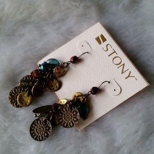 $ NEW STONY Bronze Boho Style Drop/Dangle Earrings
